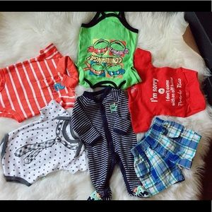Lots of 6pcs Baby Boy 3 Months Clothing